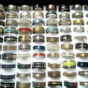50 pcs Stainless Steel Ring Wholesale Lot